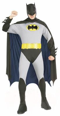 Фото Костюм Бэтмен серый с плащом взрослый