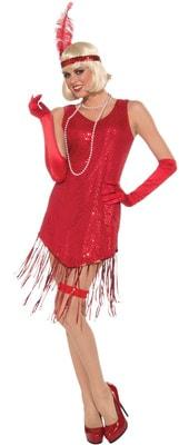 Фото Костюм Девушка из джаза в красном платье взрослый