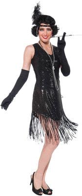 Фото Костюм Девушка из джаза в черном платье взрослый