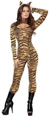 Фото Костюм дикой тигрицы взрослый