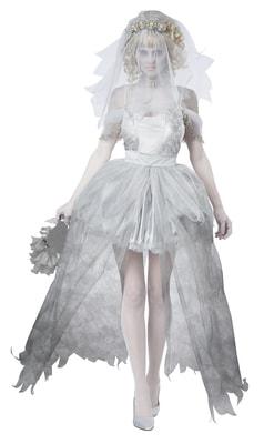 Фото Костюм Призрак-невеста с фатой взрослый