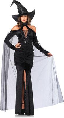 Фото Костюм элегантная Черная ведьма взрослый