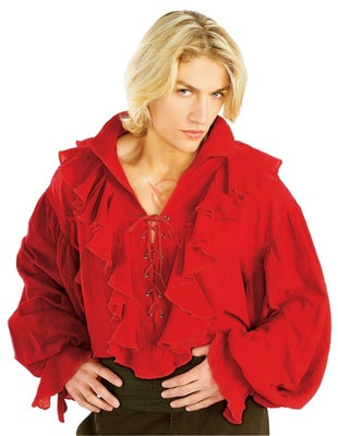 Фото Костюм Красная пиратская рубашка взрослый