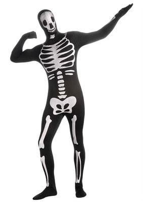 Фото Костюм Облегающий костюм скелетона взрослый