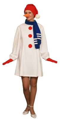 Фото Костюм Снеговик в платье взрослый