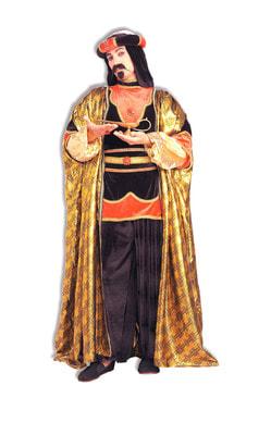 Фото Костюм Султан в золотом плаще deluxe взрослый