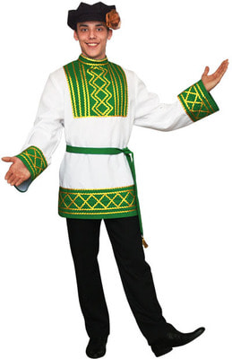 Фото Брюки к русскому народному костюму взрослый