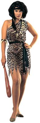 Фото Костюм Дикарка в леопардовой шкуре взрослый
