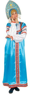 Фото Костюм Народный костюм Василиса (бирюзовый) взрослый