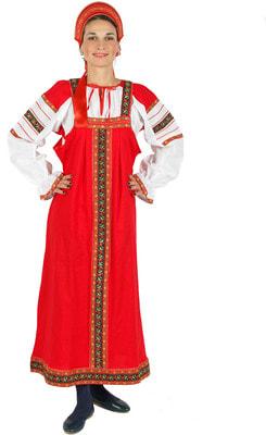 Фото Костюм Народный костюм Дуняша (красный) взрослый