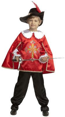 Фото Костюм Мушкетер в красном детский