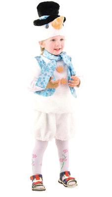 Фото Костюм Снеговичок меховой детский