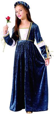 Фото Костюм Джульетта (синий бархат) детский