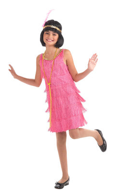 Фото Костюм Девушка из джаза в розовом детский