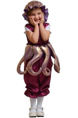 Фото Костюм Осьминог фиолетовый детский
