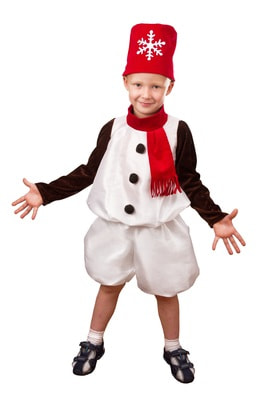 Фото Костюм Снеговик Снежок детский