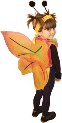 Фото Костюм Бабочка с оранжевыми крыльями детский
