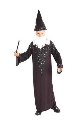 Фото Костюм Волшебник Мерлин с колпаком детский