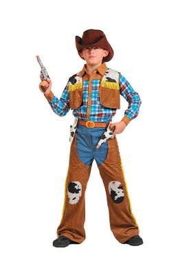 Фото Костюм Ковбой с оружием и шляпой детский