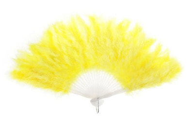 Фото Веер пуховой цвет желтый