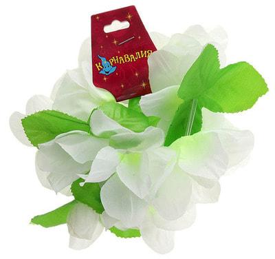 Фото Гавайский браслет Жасмин, цвет белый