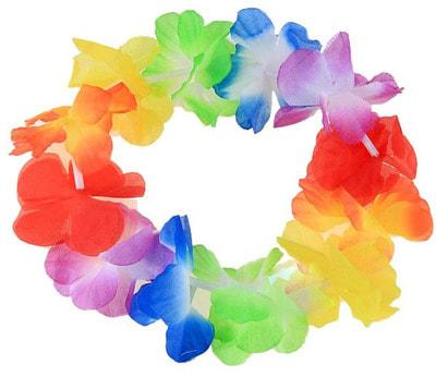 Гавайский венок Остров разноцветный s320314 купить в интернет-магазине - My-Karnaval.ru, доставка по России и выгодные цены