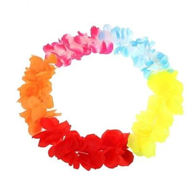 Фото Гавайский венок на голову Гибискус разноцветный