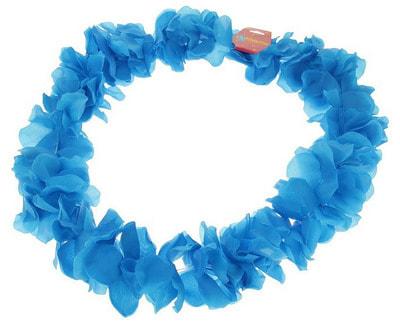 Фото Гавайское ожерелье Лепестки ириса синее