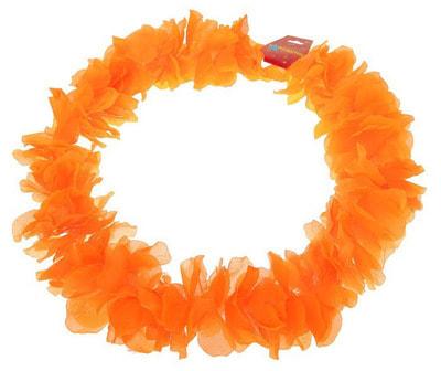 Фото Гавайское ожерелье Лепестки ириса оранжевое