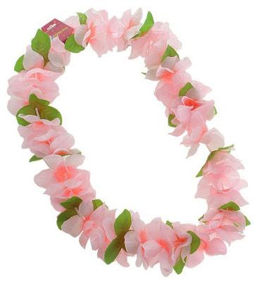 Ожерелье гавайское Плюмерия розовое s126889 купить в интернет-магазине - My-Karnaval.ru, доставка по России и выгодные цены