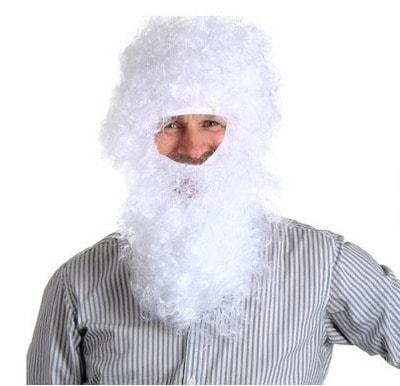 Фото Парик и борода Деда мороза