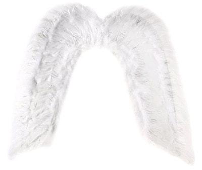 Фото Крылья ангела белые с блестками
