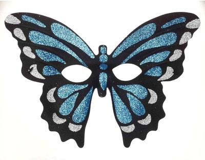 Фото Маска Синяя бабочка