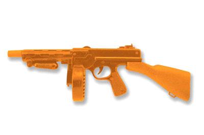 Фото Гангстерский автомат оранжевый