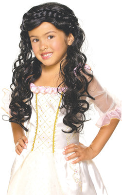 Фото Детский парик Принцесса-брюнетка