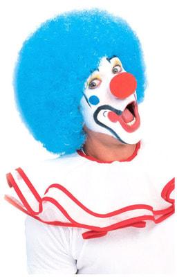 Фото Клоунский парик голубой взрослый