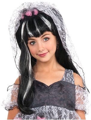 Фото Детский Парик Черной невесты