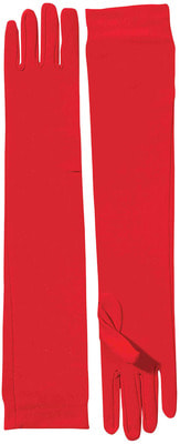 Фото Длинные красные перчатки