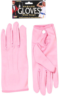 Фото Перчатки розовые короткие взрослые
