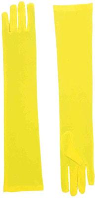 Фото Длинные желтые перчатки