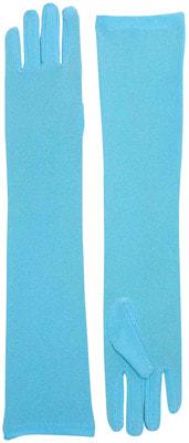 Фото Длинные голубые перчатки взрослые