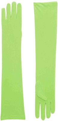 Фото Длинные зеленые перчатки