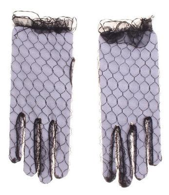 Фото Перчатки чёрные (гипюр) взрослые
