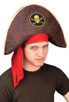 Фото Треуголка пирата с лентой