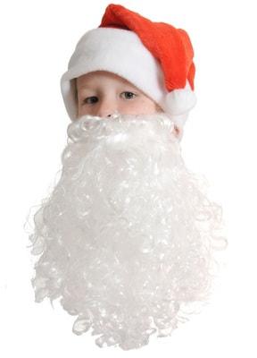 Фото Колпак новогодний с бородой