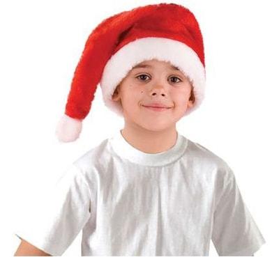 Фото Колпак меховой красный детский