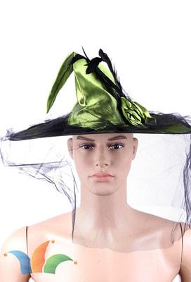 Фото Зеленый колпак ведьмы с розой