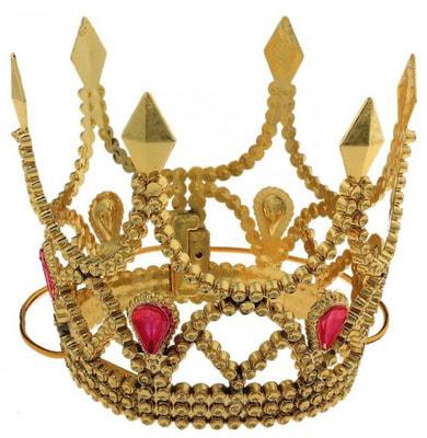 Фото Корона принцессы золотая детская