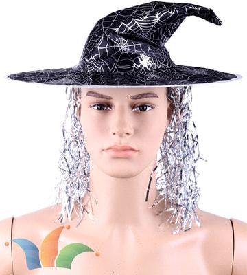 Фото Колпак ведьмы с мишурой