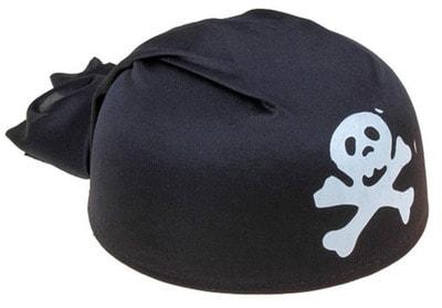 Фото Бандана-шляпа пирата Череп (чёрная)